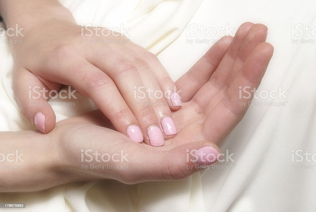 Soft Hands royalty-free stock photo
