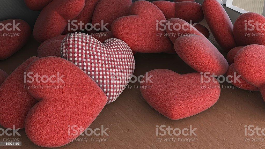 soft hearts royalty-free stock photo
