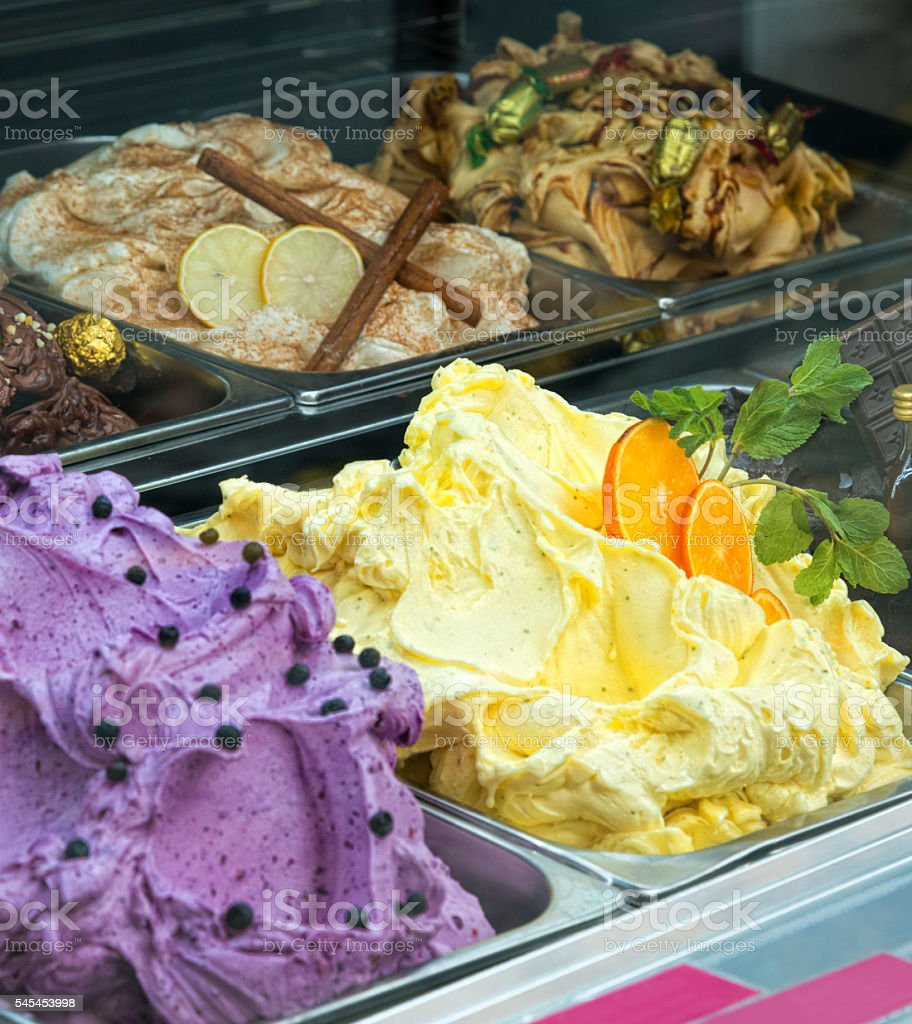 soft ice cream for selling in summer stock photo