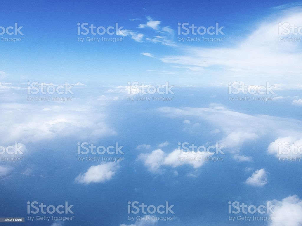 Soft Lens Sky stock photo