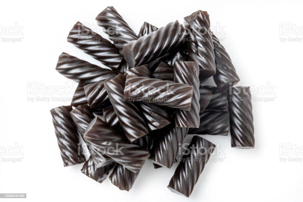 Soft Licorice candy stock photo