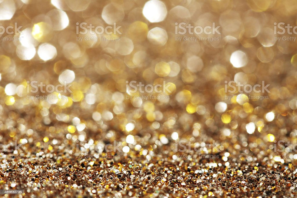 Soft lights silver and gold background stock photo