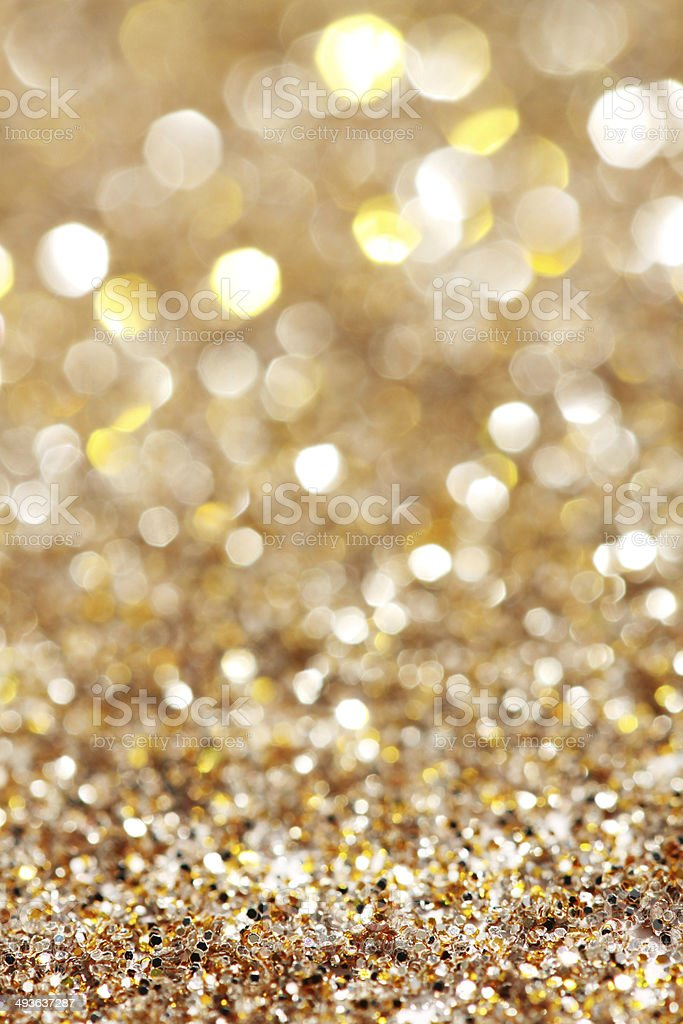 Soft lights silver and gold background - vertical stock photo