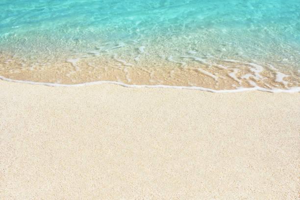 Soft ocean wave on the beach stock photo