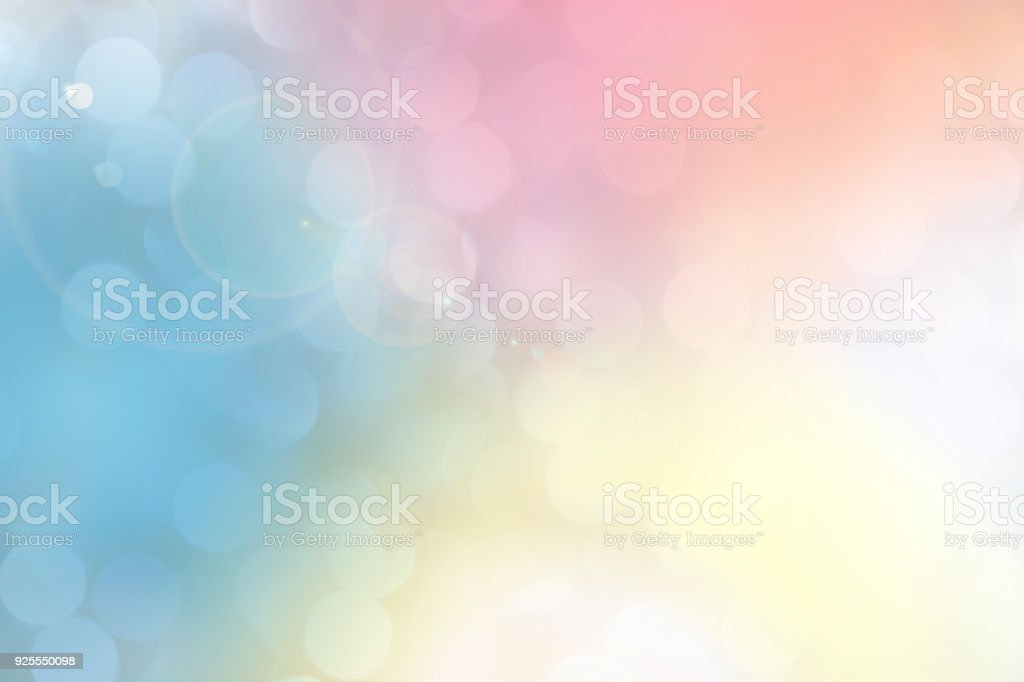 Soft pastel colored lights for Easter or Mother's Day. stock photo