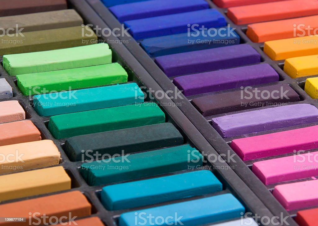 Soft pastels close up royalty-free stock photo