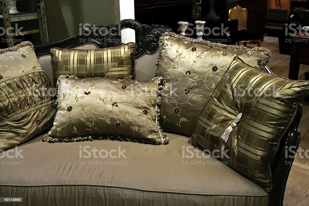 soft pillows royalty-free stock photo