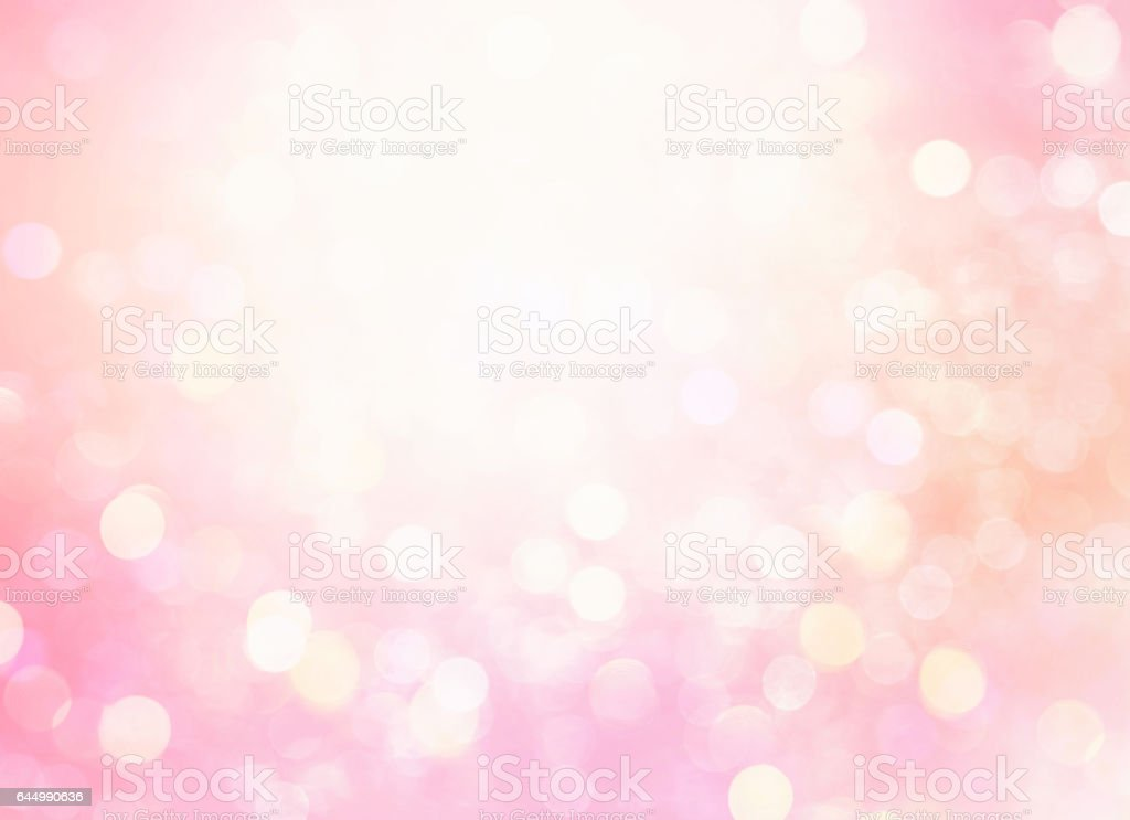 Soft pink glowing bokeh blur background, stock photo
