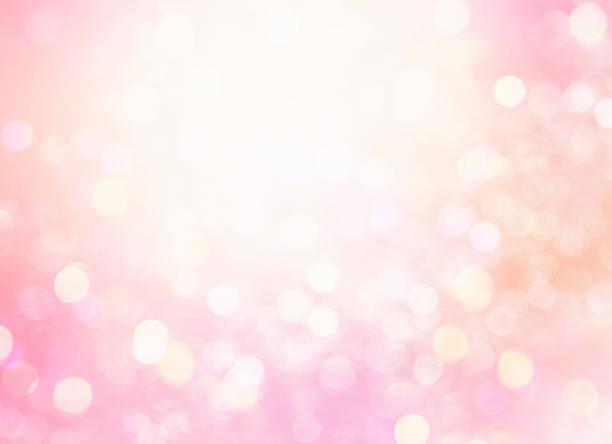 Soft pink glowing bokeh blur background, stock photo
