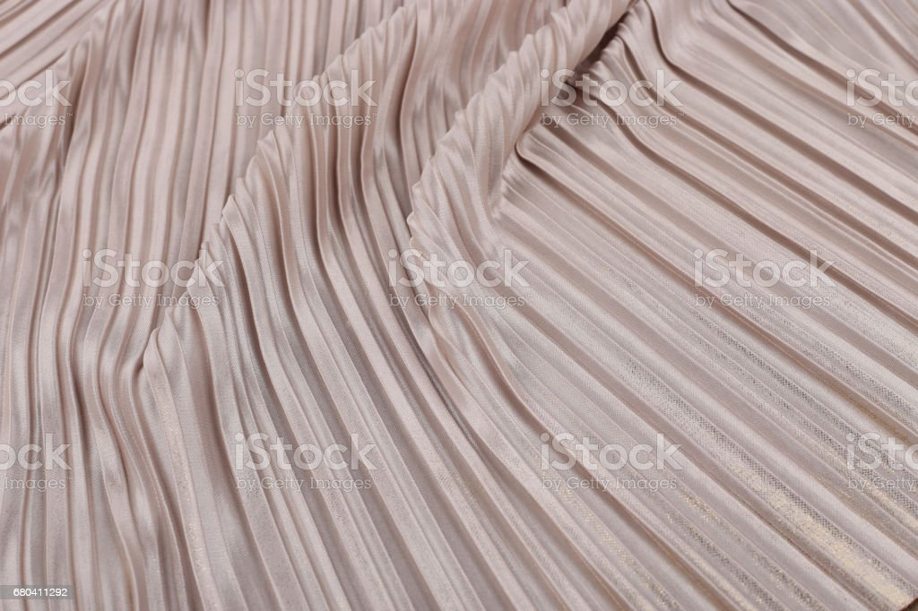 Soft pink pleated fabric. stock photo