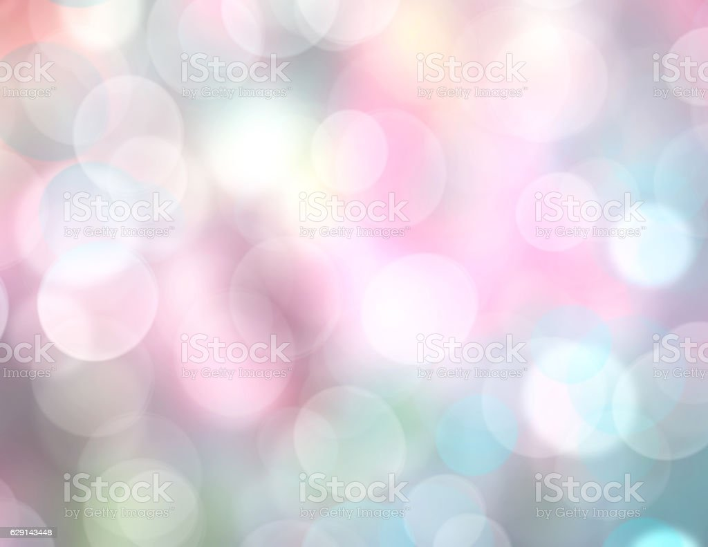 Soft rainbow color lights blurred background. stock photo