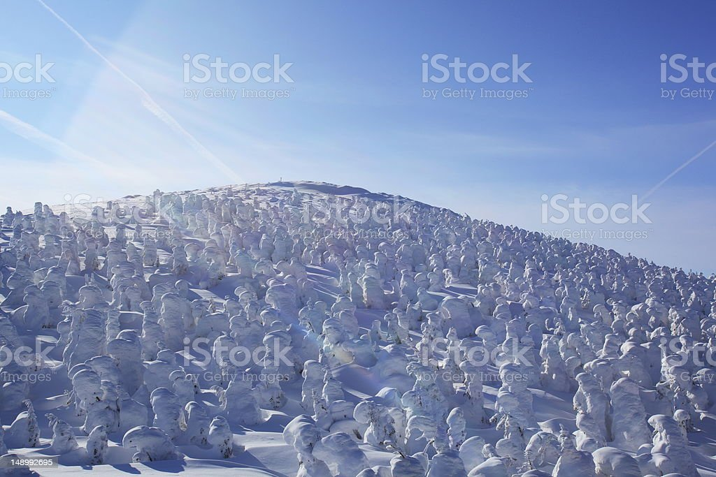 Soft rime, Mt.Zao in Japan stock photo