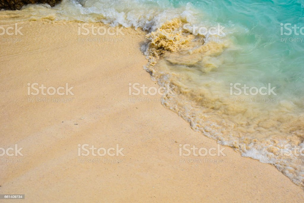 soft rip current at the beach stock photo