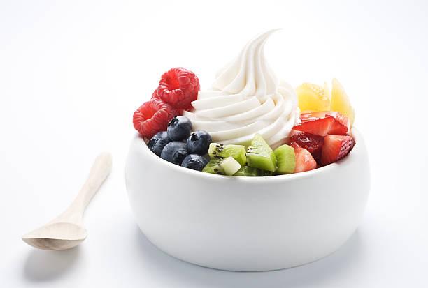 soft serve frozen yogurt - xxxl - 冷凍乳酪 個照片及圖片檔