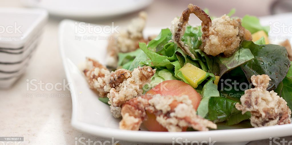 Soft Shell Crab Salad stock photo
