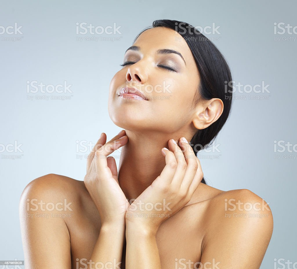 Soft skin is bliss stock photo