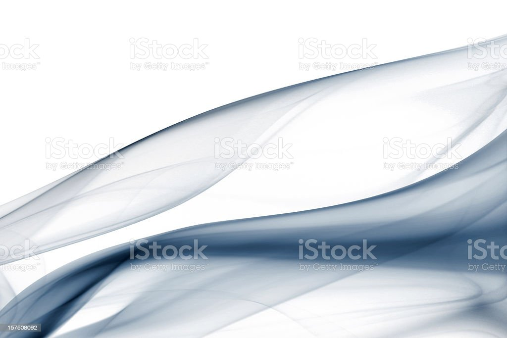 Soft smoke forming pattern of floating silk royalty-free stock photo