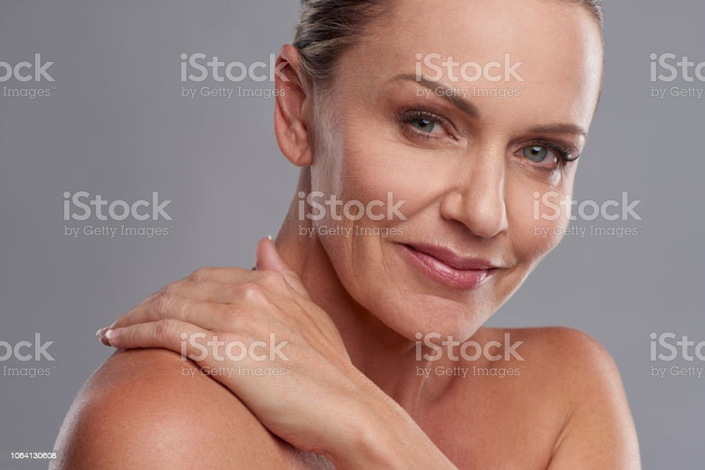 Soft, smooth and ageless stock photo