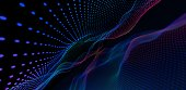 istock Soft technology background. Network with glowing lines. 1277842043