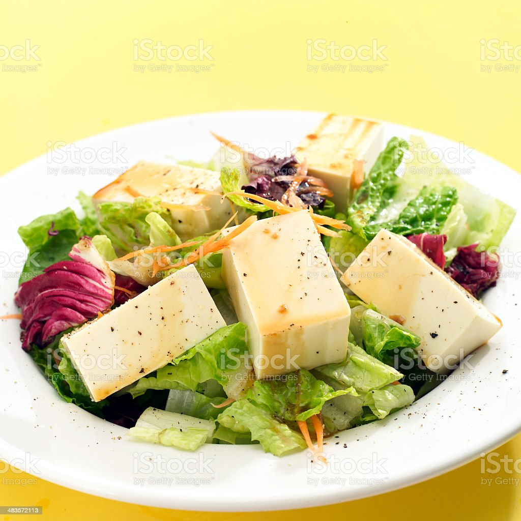 Soft Tofu Salad royalty-free stock photo
