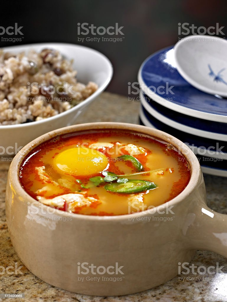 Soft Tofu Stew royalty-free stock photo
