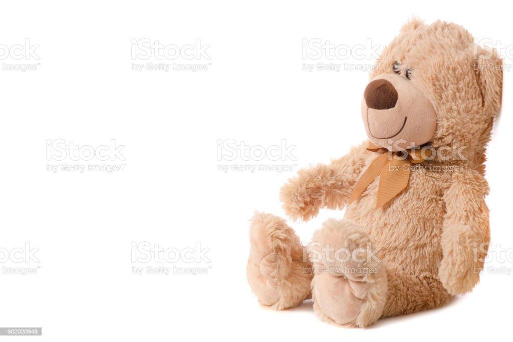 Soft toy beige bear stock photo