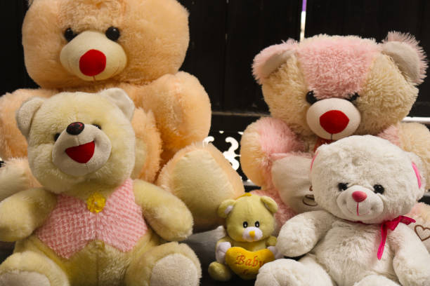 Soft toys Toys and teddy bear kids teddy bear stock pictures, royalty-free photos & images