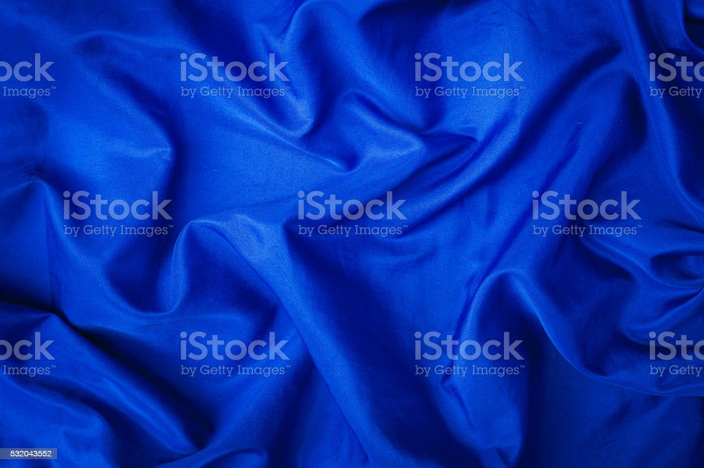 Soft velvet piece of blue fabric stock photo