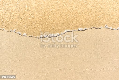 istock Soft wave lapped the sandy beach, Summer Background. 966443290