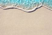 Soft wave of ocean on sandy beach
