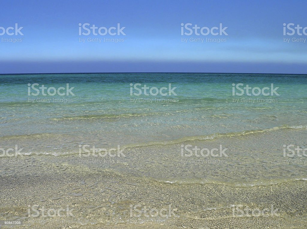 Soft waves on beautiful Cuban Beach close to Havana royalty-free stock photo