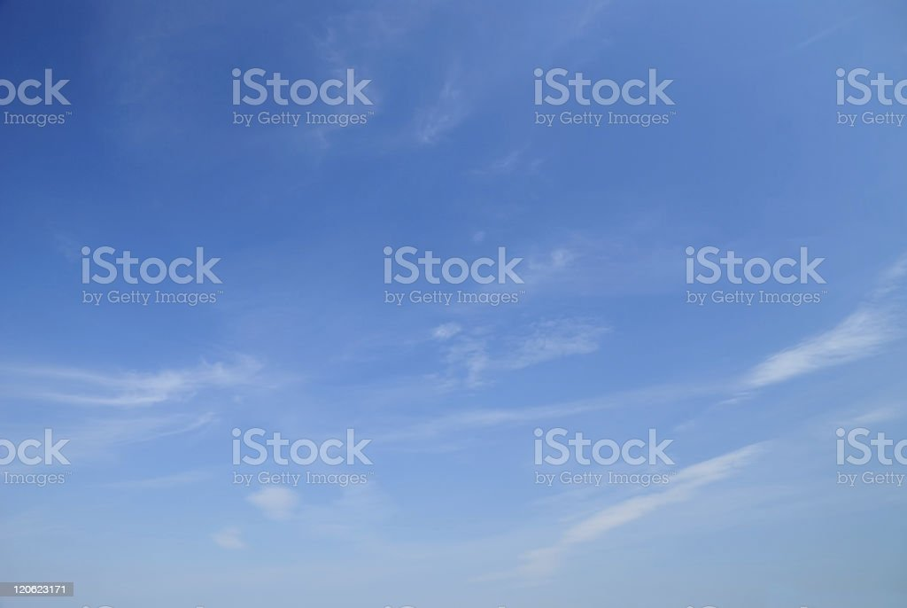 Soft white clouds against blue sky royalty-free stock photo