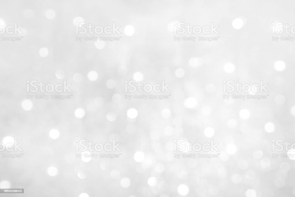Soft White Grey Background with Bokeh lights stock photo