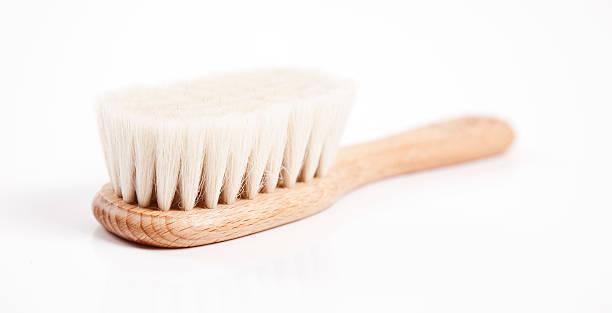 Morbido in legno Spazzola per capelli - foto stock