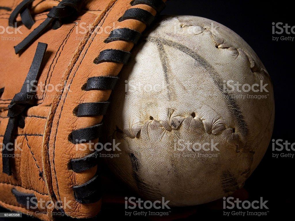 Softball and Mitt stock photo