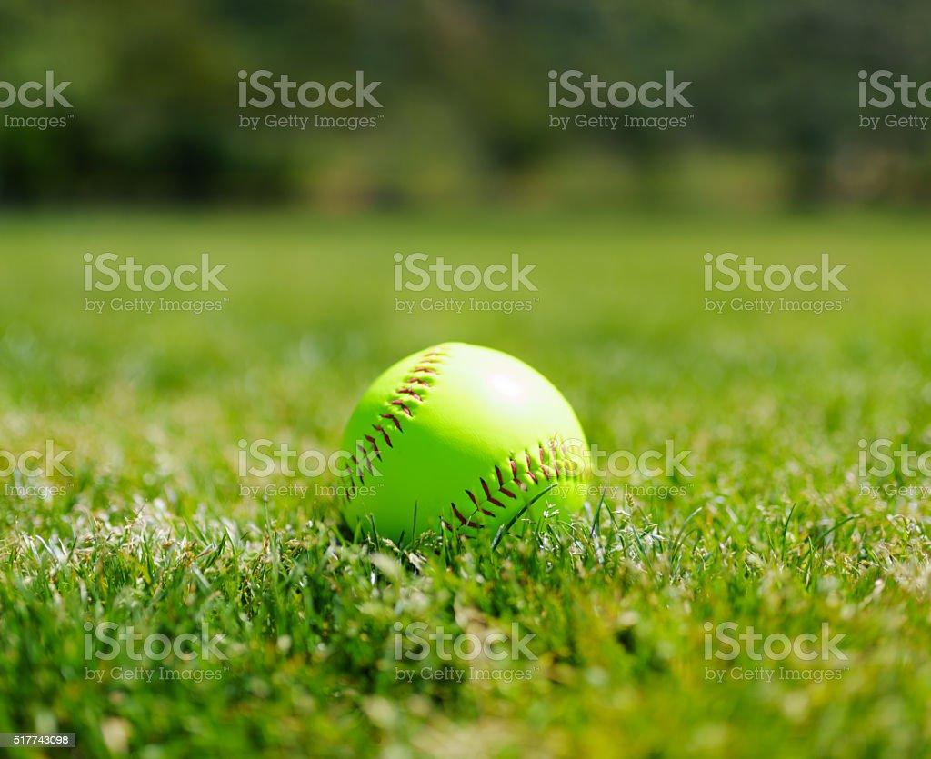 Softball at a softball field in California mountains