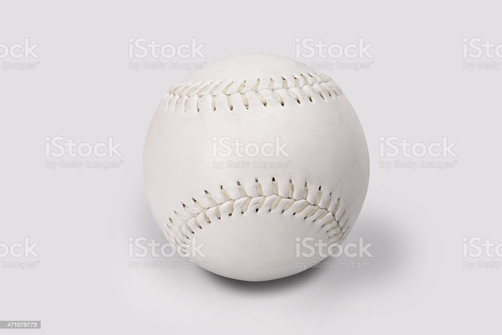 Softball ball with clipping path royalty-free stock photo