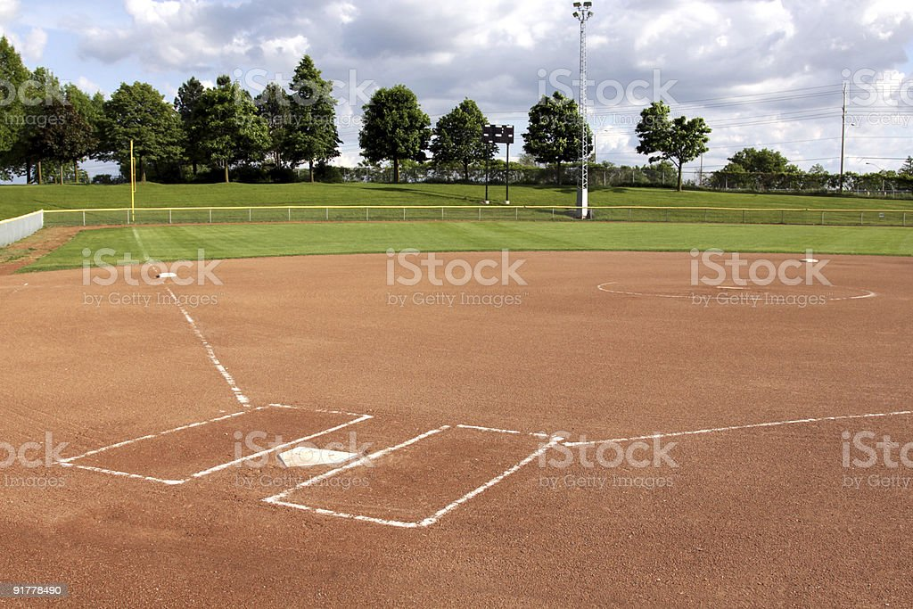Softball Diamond stock photo