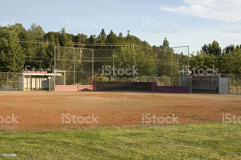 Softball Field 2 stock photo
