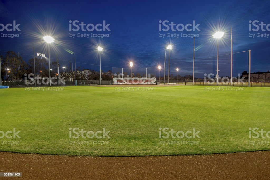 Softball Field stock photo