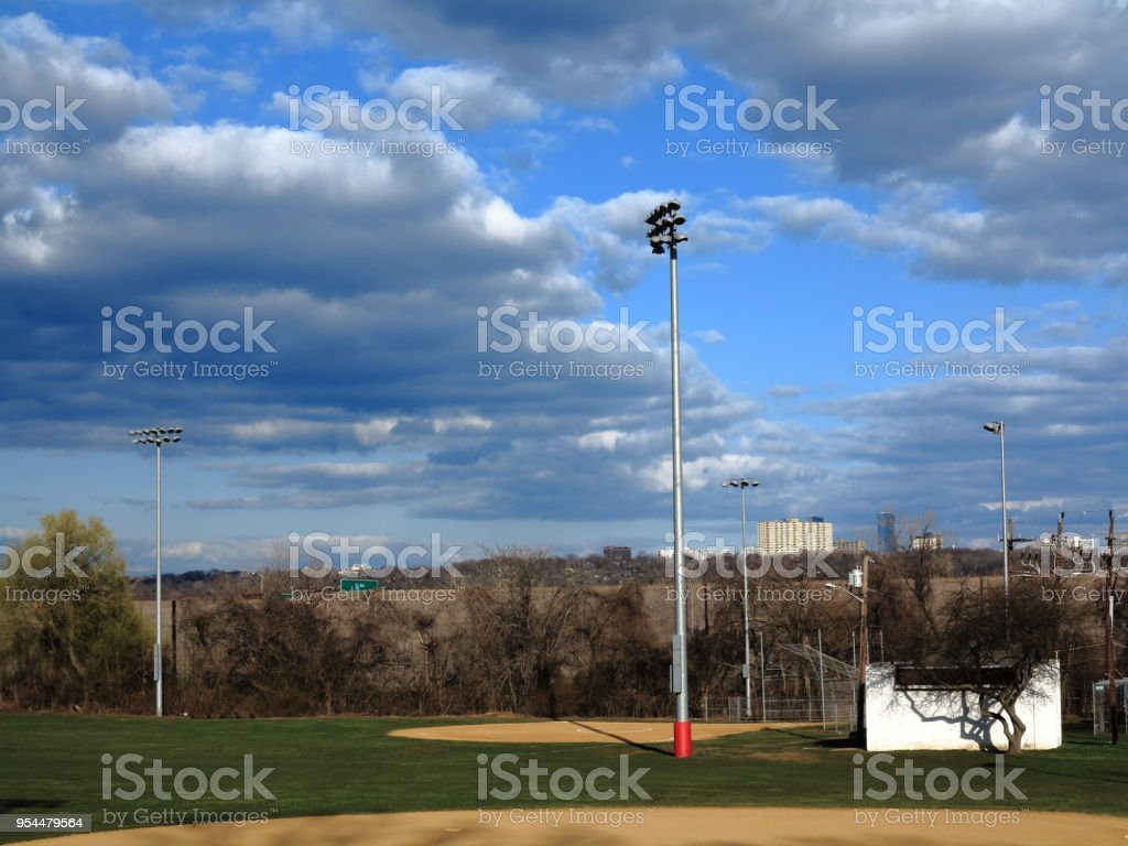 Softball Field stock photo