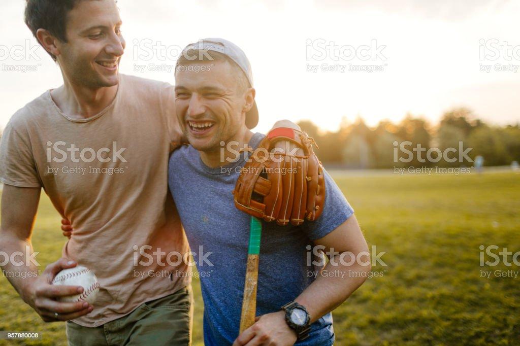 Softball game stock photo
