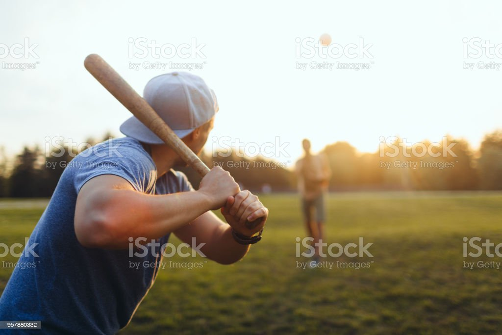 Softball game - foto de acervo