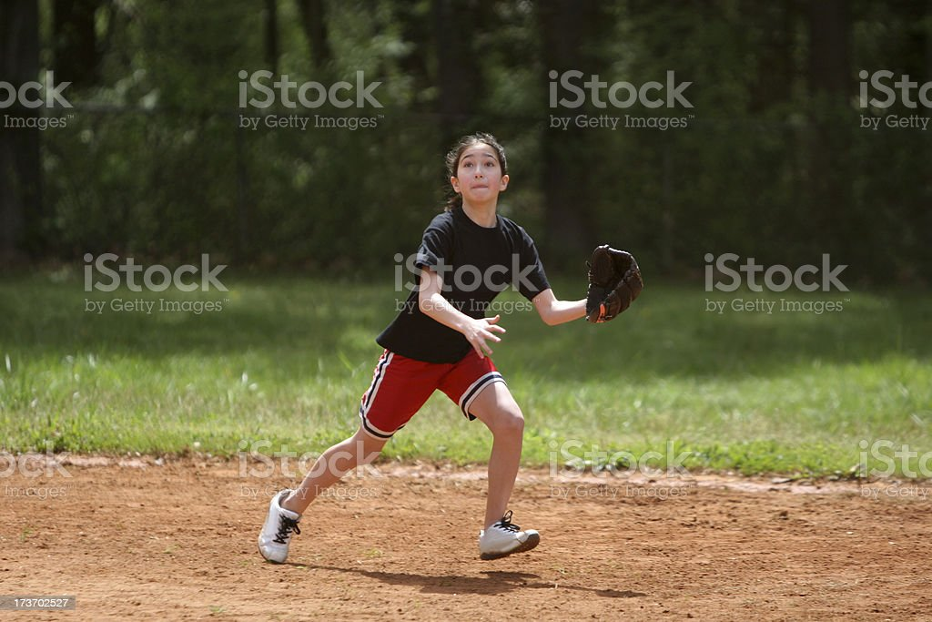 Softball girl royalty-free stock photo