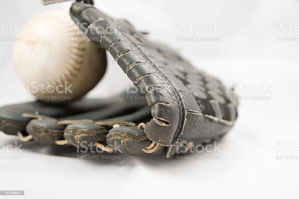 Softball Glove and Ball royalty-free stock photo