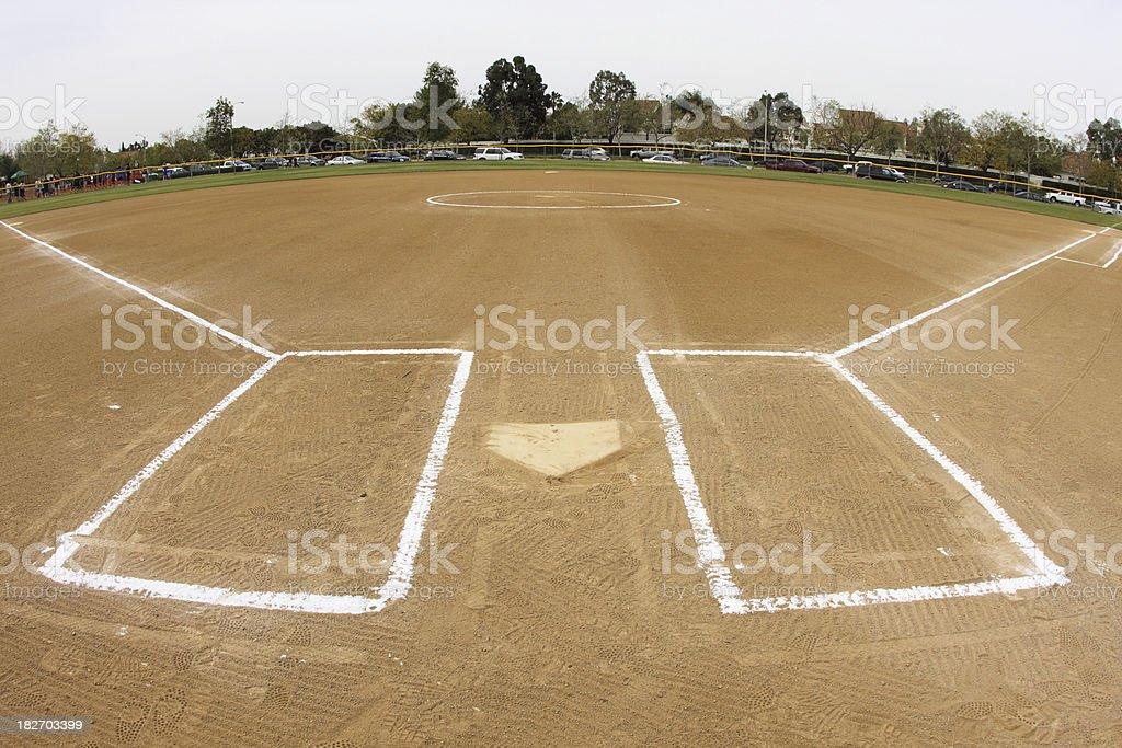 Softball infield - fisheye stock photo