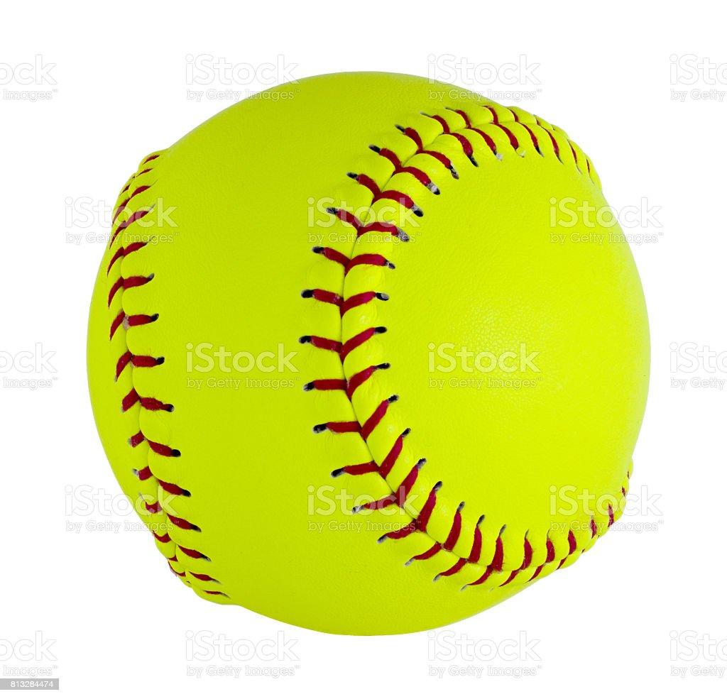 ソフトボールは、白い背景で隔離。 ストックフォト