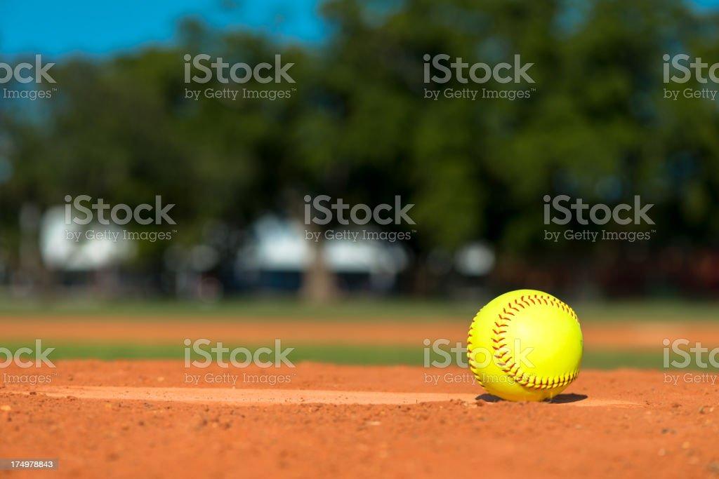 Softball on Baseball Diamond