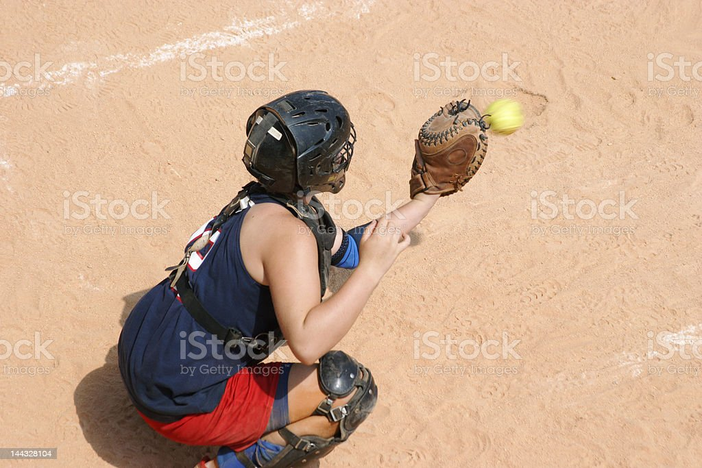 Softball royalty-free stock photo