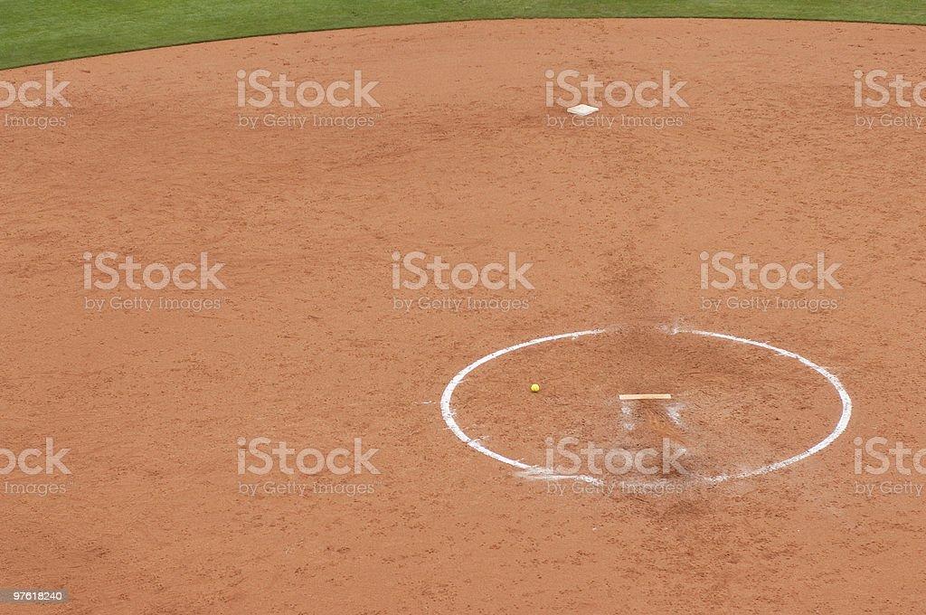 Softball royalty-free stock photo